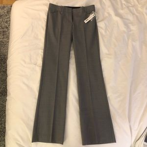 NWT Theory Max C Trouser in Light Heather Gray